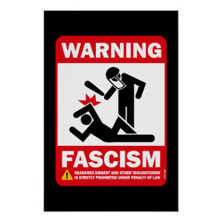 Avertissement Fascisme Affiche