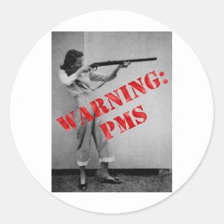 Avertissement PMS Adhésifs Ronds