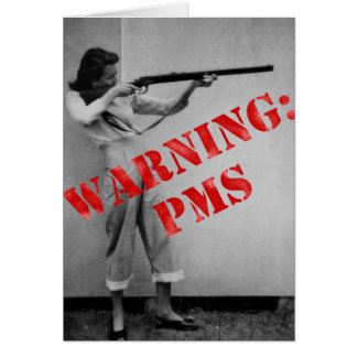 Avertissement PMS Carte De Vœux