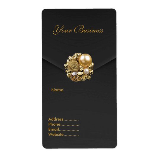 Avery Address Label Black Velvet Jewel