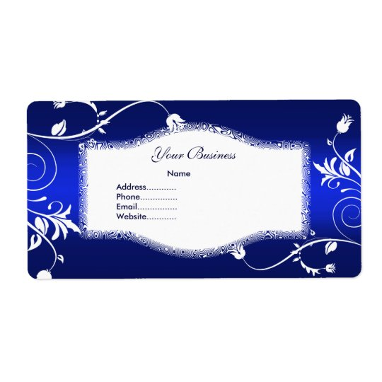 Avery Address Label Floral Blue White