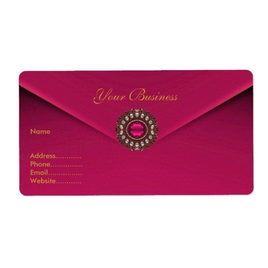 Avery Address Label Pink Velvet Jewel