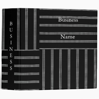 Avery Binder Black & White Style Stripe