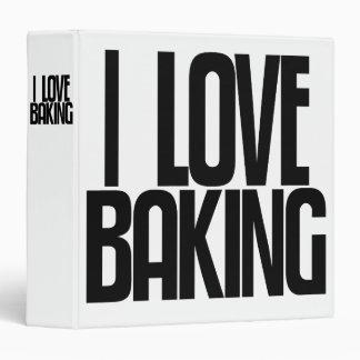 Avery Binder, Tall Skinny Text, I Love Baking 3 Ring Binder