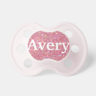 """""""Avery"""" Personalized Name Glitter Pacifier"""