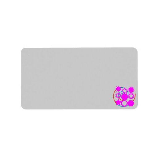 Avery Print-to-the-Edge Address Labels STAR PINK