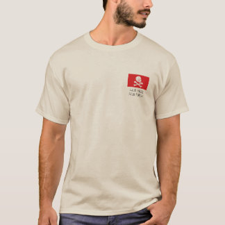 avery-red_flag, Live Free, Fish Hard!! T-Shirt