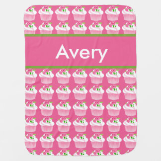 Avery's Personalized Cupcake Blanket