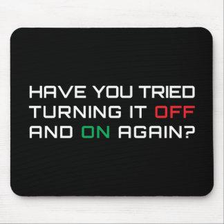 Avez-vous essayé de le tourner par intervalles enc tapis de souris