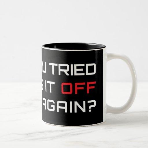 Avez-vous essayé de le tourner par intervalles enc mugs à café