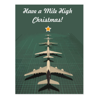 Avgeek Mile High Christmas Postcard