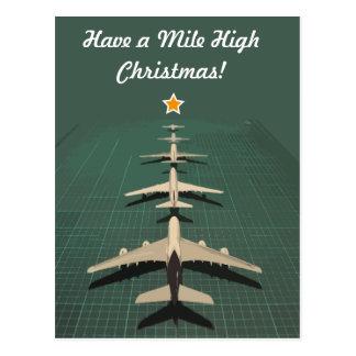 Avgeek Mile High Christmas Postcard