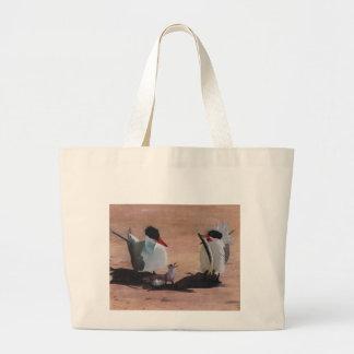 Avian Family Feeding Time Jumbo Tote Bag