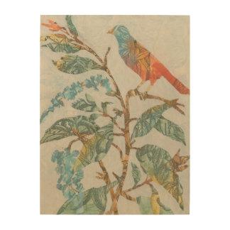 Aviary Collage II Wood Prints