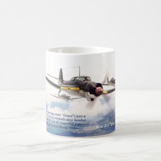"Aviation Art Mug ""Aichi B7A "" Grace """""