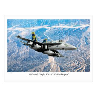 """Aviation Art Postcard """"F/A-18 Hornet"""""""