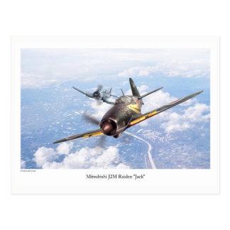 "Aviation Art Postcard ""Mitsubishi J2M Jack"""