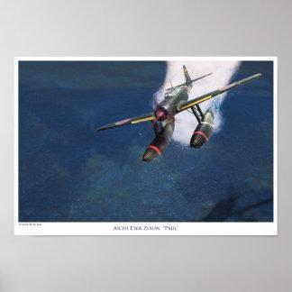 "aviation Art Poster ""Aichi E16A Zuiun"" Paul """""