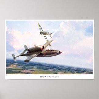 """Aviation Art Poster """"Heinkel He 162 """""""