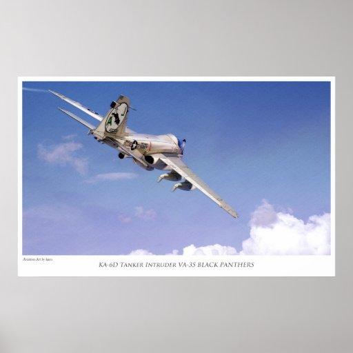 "Aviation Art Poster ""KA-6D Tanker Intruder VA-35 """