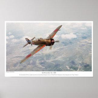 "Aviation Art Poster ""Kawasaki Ki-100 """