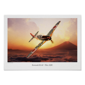 "Aviation Art Poster ""Kawasaki Ki-61 """