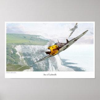 """Aviation Art Poster """"Messerschmitt Bf 109"""""""