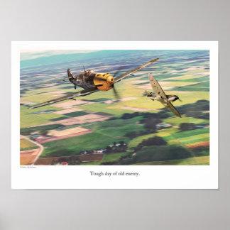 """Aviation Art Poster """"Messerschmitt Bf 109 """""""