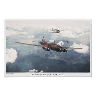 "Aviation Art Poster ""Mitsubishi G4M Betty """