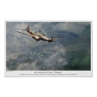 "Aviation art Poster Mitsubishi Ki-46 ""Dinah """