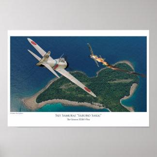 "Aviation Art Poster ""Saburo Sakai """