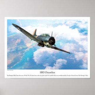 "Aviation Art Poster ""SBD Dauntless"""