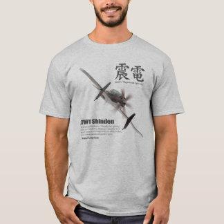 "Aviation Art T-shirt ""J7W1 Shinden shaking"