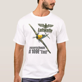 "Aviation Art T-shirt ""Messerschmitt Bf 109E """