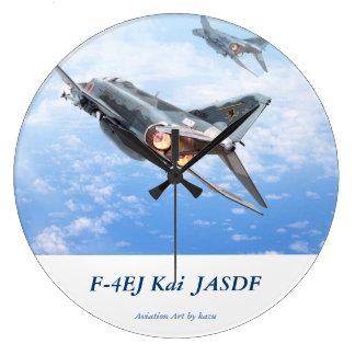 """Aviation Art Wall Clock """"F-4 EJ KAI JASDF """""""