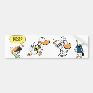 Aviation Bird Cartoons Bumper Sticker