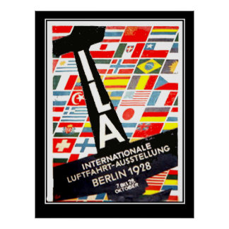 Aviation Exhibition Berlin 1928 Vintage poster