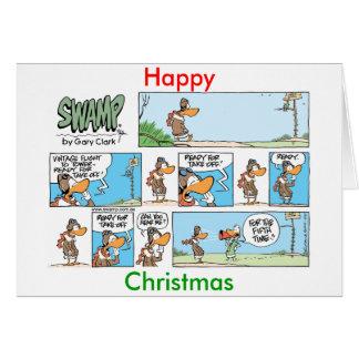 Aviation Humor Cartoon Christmas Card