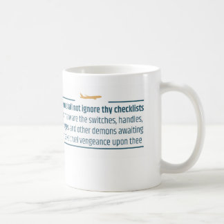 Aviation Humor Do Not Ignore Checklists Coffee Mug