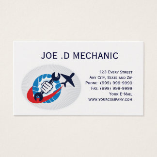aviation maintenance mechanic business card