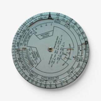 Aviation Navigation Computer Paper Plates