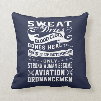 Aviation Ordnanceman Woman Throw Pillow