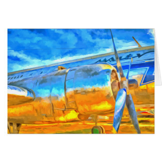 Aviation Pop Art Card