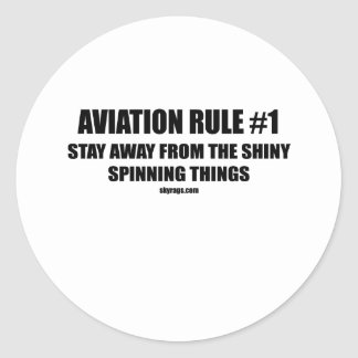 AVIATION RULE 1 CLASSIC ROUND STICKER