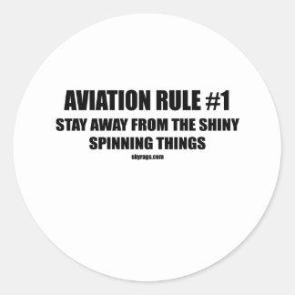 AVIATION RULE 1 ROUND STICKER