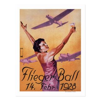 Aviation Show at Hotel Wagner Promo Poster Postcard