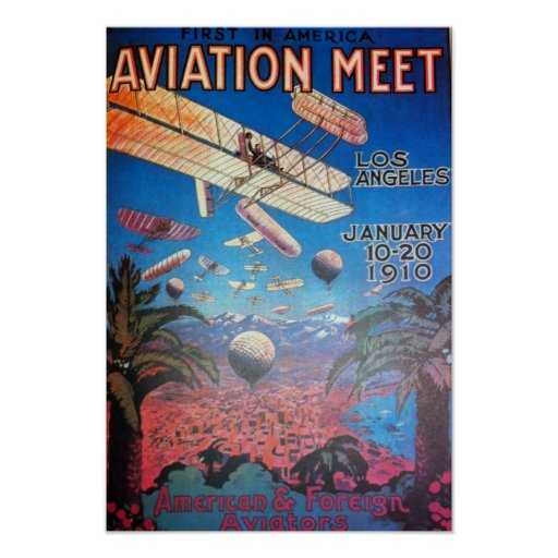 Aviation Show in Los Angeles Poster