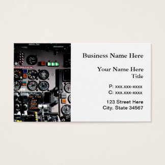 Aviation Specialist Cockpit Business Cards