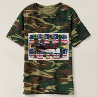 aviation t-shirt magic numbers green camouflaged