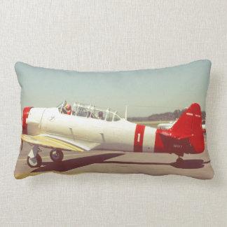 Aviation, Vintage Navy Propeller Airplane Lumbar Pillow